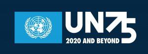 UN75_logo_white on dark blue background_RGB